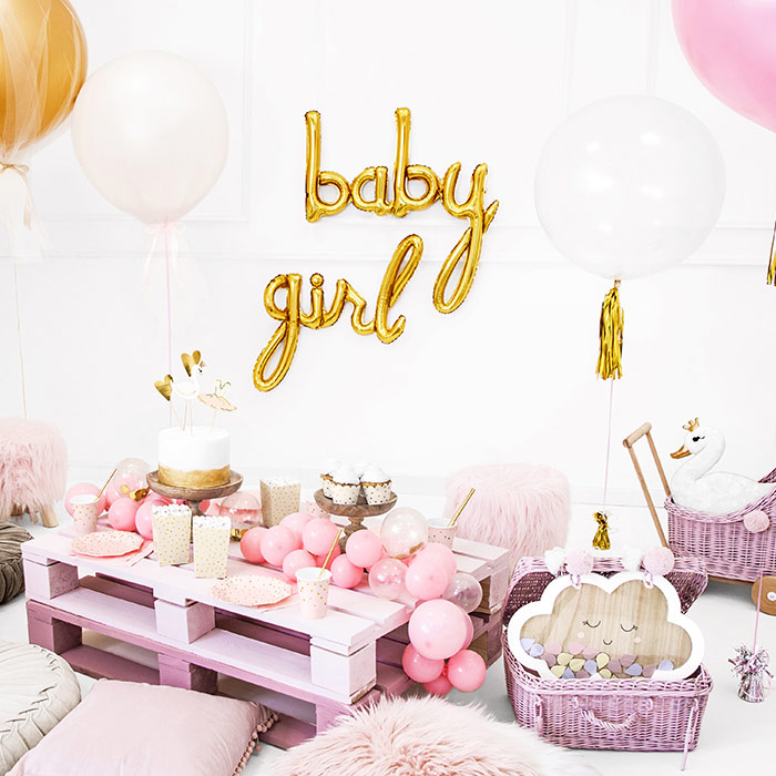Baby shower pige pynt