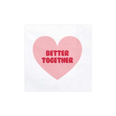 Better together bryllups servietter eller valentine