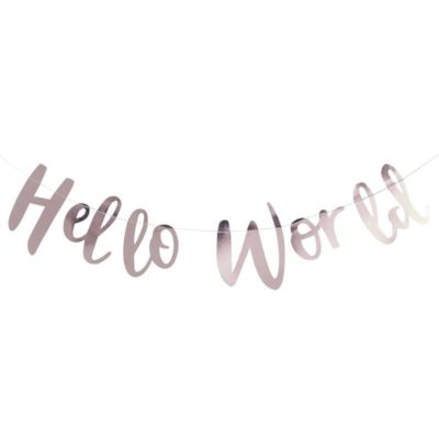 hello world Banner i rosaguld