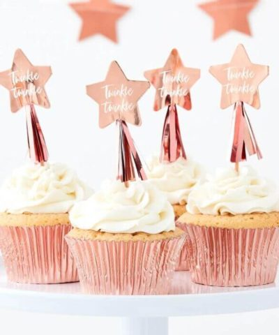 Cupcake toppers rosaguld
