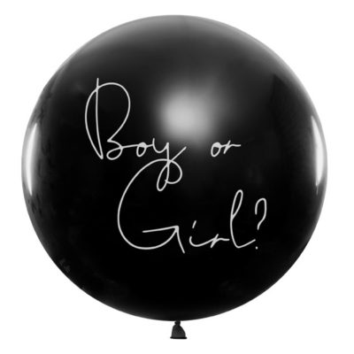 kæmpe ballon til gender reveal boy or girl