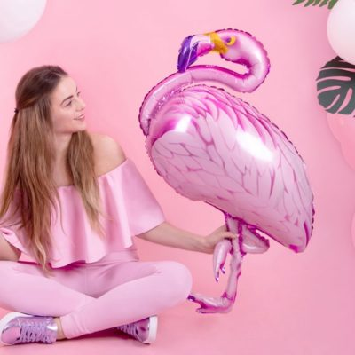 Flamingo ballon i folie