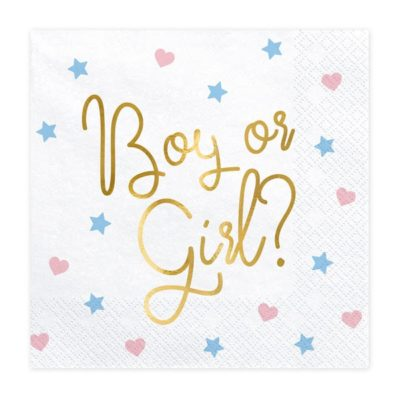 boy or girl servietter til babyshower