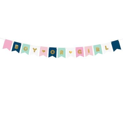 Boy or Girl banner til genderreveal