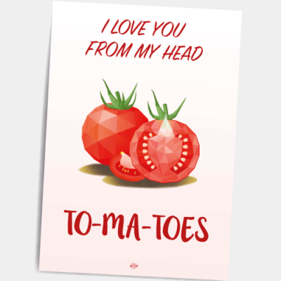 Postkort i love you from my head to-ma-toes
